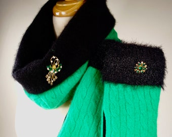 upcyled felted wool sweater mittens hats by MooseMountainMittens