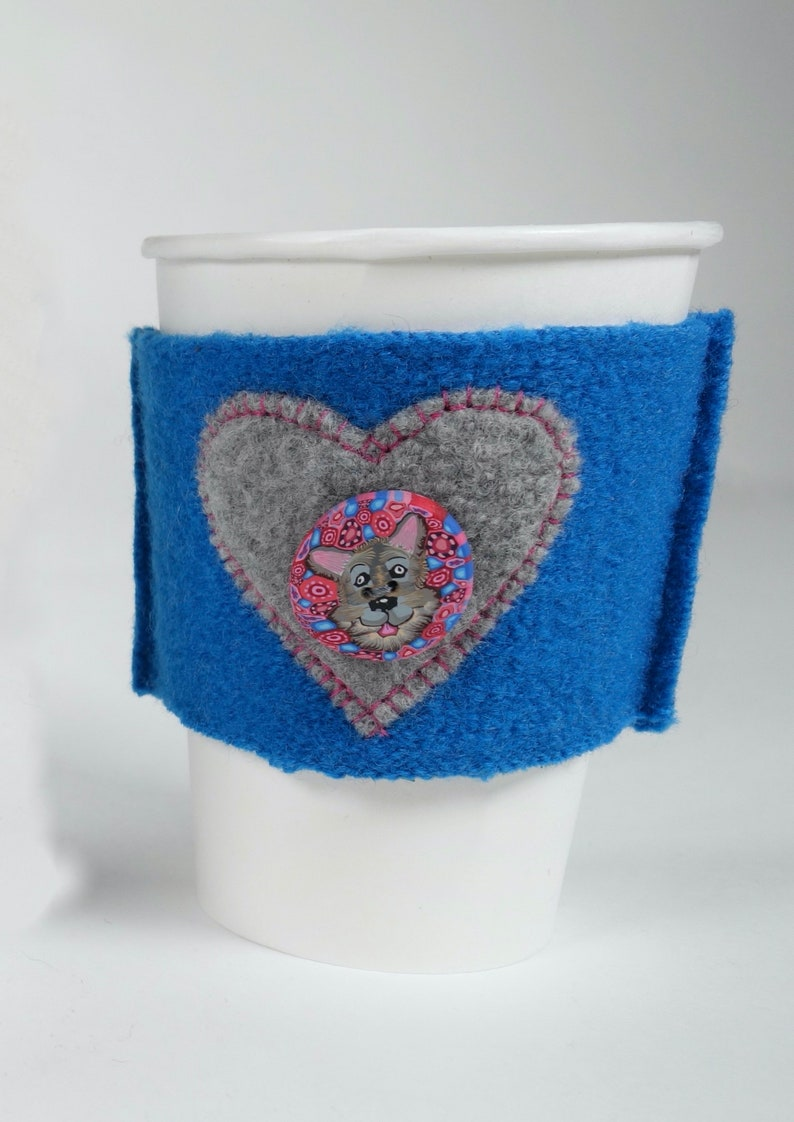 Feeding America Upcycled eco friendly Coffee Cozy FUNDRAISER image 0