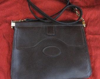 Vintage 60's brown leather bag
