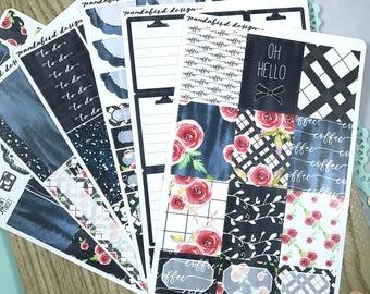 Weekly Planner Sticker Kit | Winter Plaid Kit