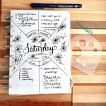 Compass Protractor™ by MoxieDori Bullet Journal Stencil