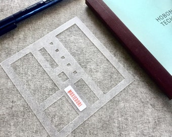 Beginner Basics HOBONICHI Techo Journaling Stencil makes layouts fast and easy. Get it over here.