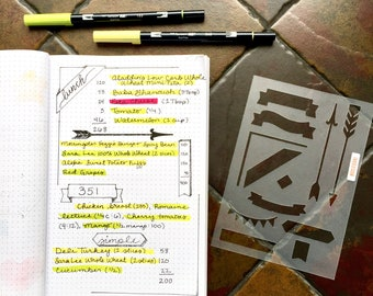 Decorative Headers Bullet Journaling Stencil creates banners, arrows and more fast and easy. Grab it over here.