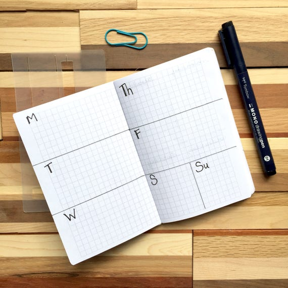 Field Notes Super Slider Bullet Journal Stencil Yearly Etsy