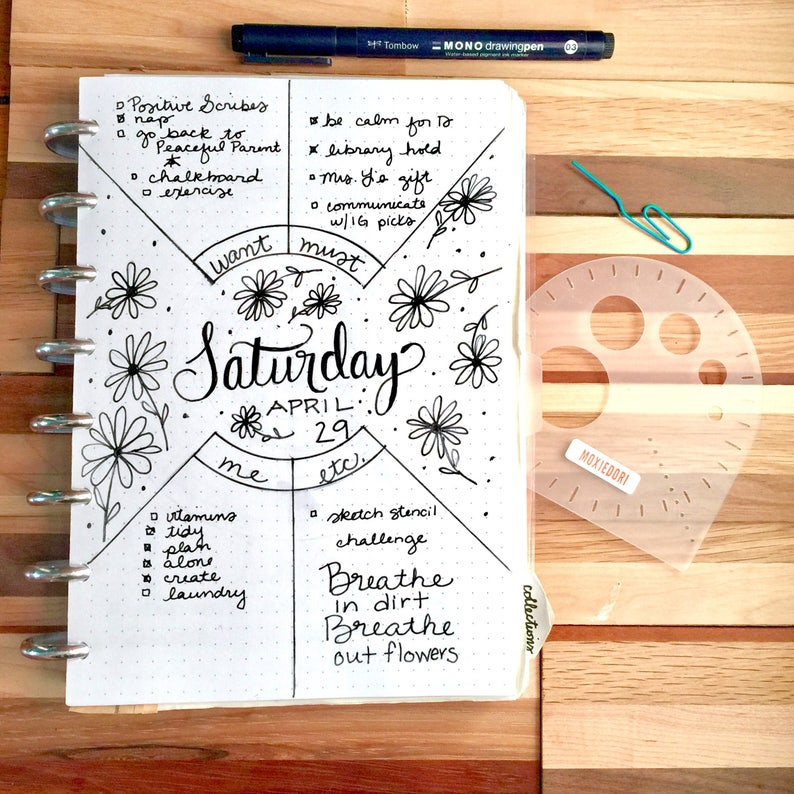Compass Protractor™ by MoxieDori Bullet Journal Stencil image 0