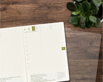 Pencil board for A6 Hobonichi slips under your page to serve as a writing surface. Get it here.