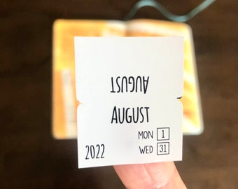 2022 Monthly Bullet Journaling Tabs bookmark your months so you can easily find them. Get them over here.