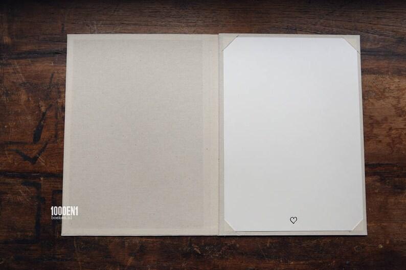 Wedding folder A4 natural linen for 1 sheet image 0