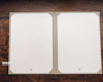 Wedding folder A4 for 2 sheets sand linen