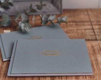 Wedding vow book linen