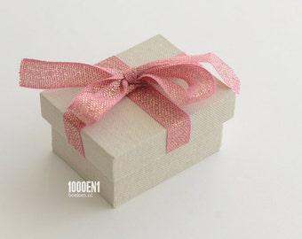 Personalized ring box pink