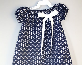 Bonnie Jean Baby Girl Nautical Sail Boat 4th of July Dress Outfit  3-6M 12M 18M