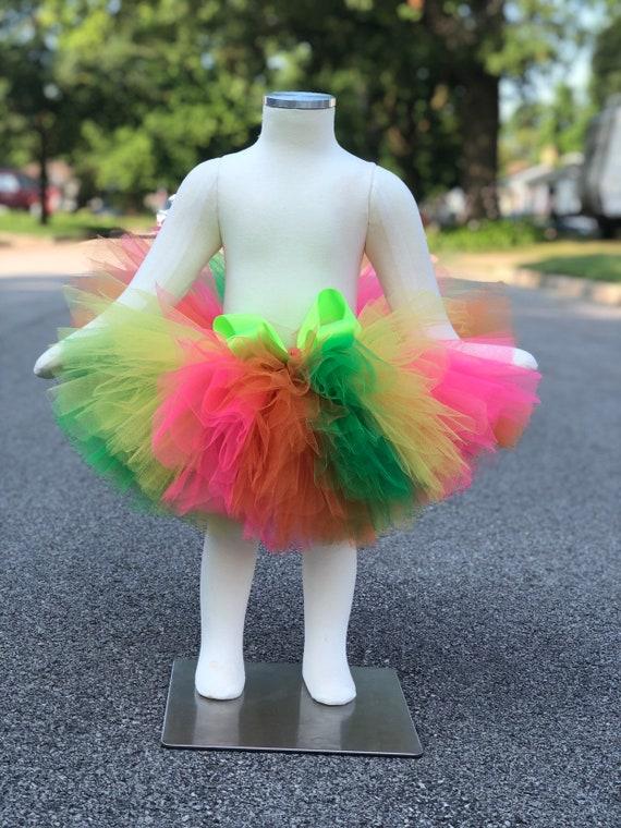 colorful tutu birthday tutu Neon tutu tutu party tutu neon tutu skirt neon tutu girls birthday tutus for babies tutus for girls