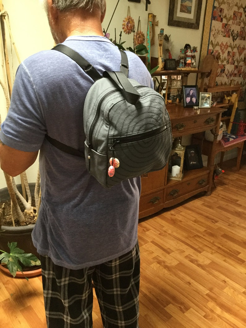 Gray small back pack,Gray cloth back pack fabric back pack Gray Back pack Small Ladies Back Pack