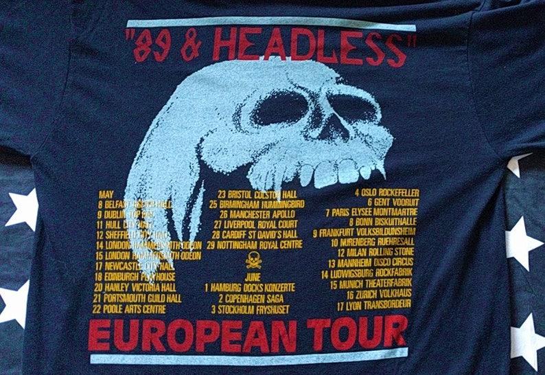 Wasp headless children european tour 1989 tour shirt vintage heavy glam metal king diamond kiss motley crue iron maiden ratt judas priest