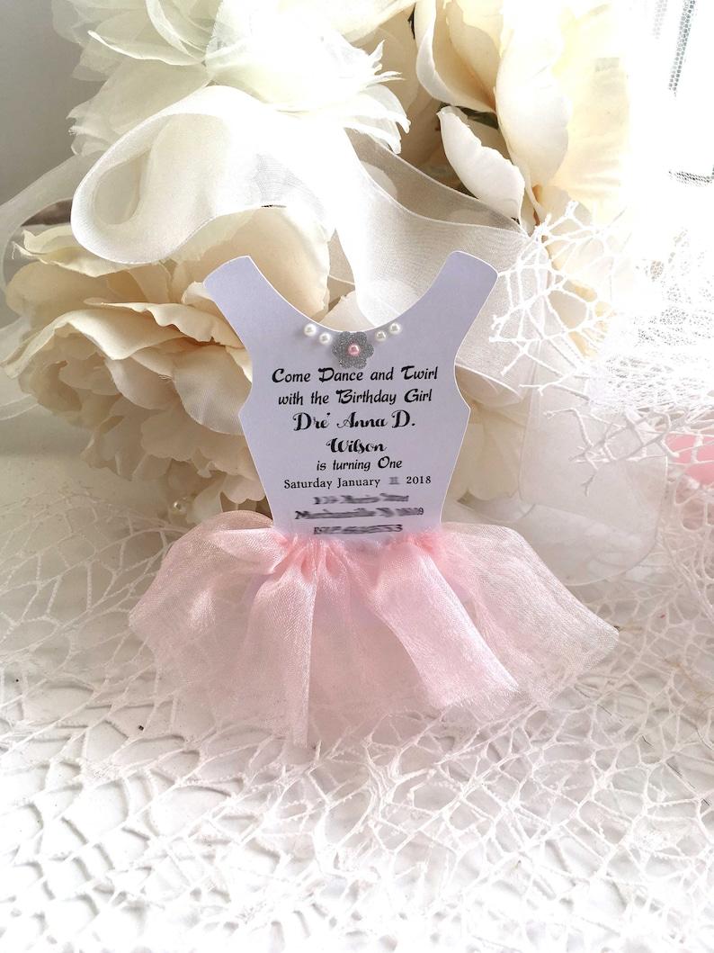 10 Tutu Invitations Ballerina Dress Invitations Tutu Cards Etsy