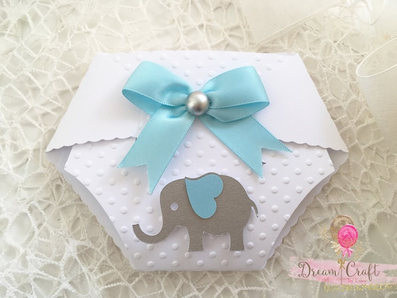 Diaper Invitation | 10 Elephant Baby Shower Diaper Invitations Nappy Invites For Etsy