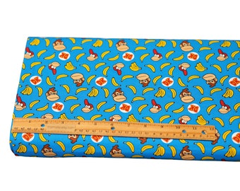 59423 Packed Donkey Kong Cotton Fabric Springs Licensed Prints