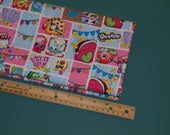 1 2 Yard Licensed Shopkins Fabric Patch Party Cartoon