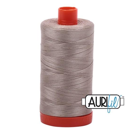 1158 New AURIFIL Large Spool Thread Medium Grey 50 wt 1422 yards