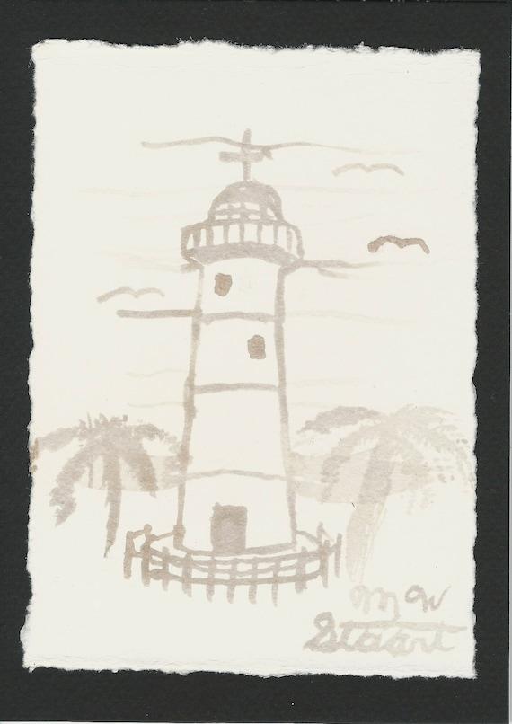 Wine Staining Biloxi Lighthouse By M W Stuart Etsy