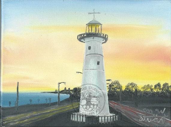 Original Oil Painting Biloxi Light House At Etsy
