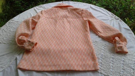 Vintage 1960s-1970s Orange and  white 2pc pant su… - image 4