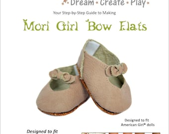 Mori Girl Bow Flats for 18 inch dolls