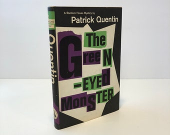 The Green-Eyed Monster by Partrick Quentin 1960 with Original Dust Jacket