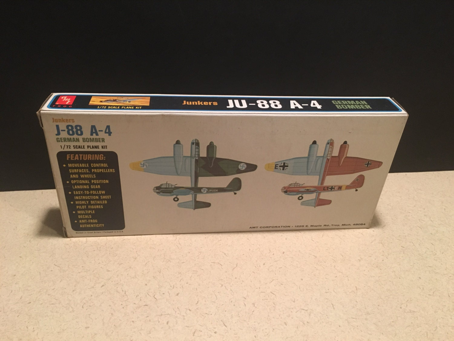 AMT Frog-Junkers JU-88 A-4 German Bomber 1/72 Scale Plane   Etsy