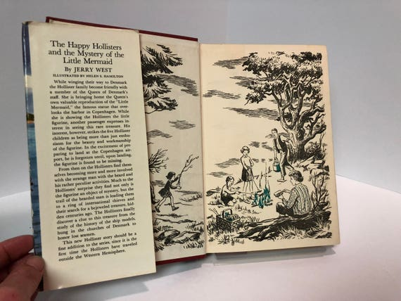 The Happy Hollisters and the Mystery of the Little Mermaid #19 by Jerry West 1960 Vintage Book