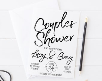 Couples Shower Invitation - Couples Shower Invitation Printable - Coed Shower Invitation - Couples Bridal Shower Couples Wedding Shower