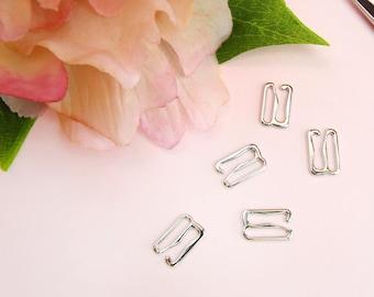 """5 x Silver 12 mm (1/2"""") G-Hooks"""