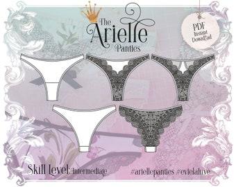 Arielle Tanga Panties Sewing Pattern PDF Instant Download - Evie la Luve