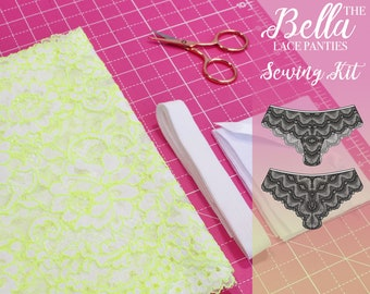 Bella Lace Panties Sewing Kit - Fluorescent