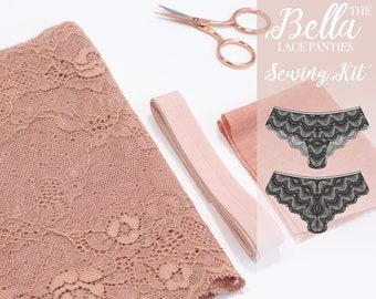 Bella Lace Panties Sewing Kit - Deep Beige