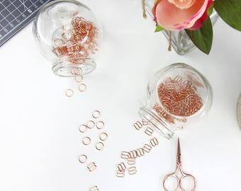 4 sets (8mm) of Rose Gold Rings & Sliders - 8 mm