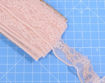 1 m (1.09 yd) - Narrow Stretch Lace - Nude