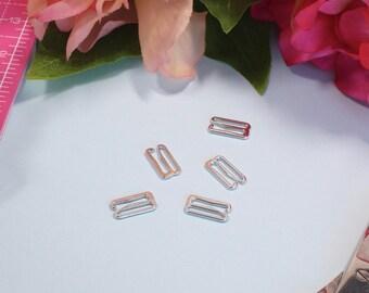 """5 x Silver 15 mm (5/8"""") G-Hooks"""