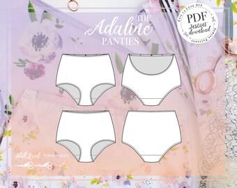 DIGITAL Adaline High Waist Panties SEWING PATTERN - Instant Download - Evie la Lùve