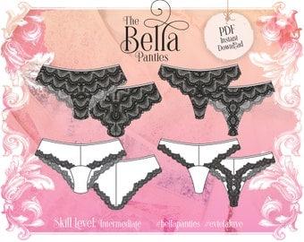 Bella Panties - PDF Instant download Lingerie Sewing Pattern - Evie la Lùve