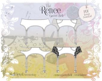 Renee Garter Belt Sewing pattern - PDF Instant Download - Evie la Luve
