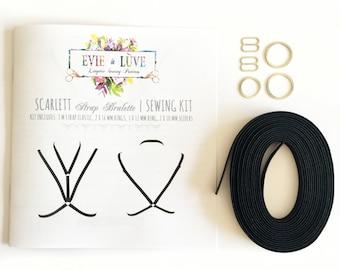 Scarlett Strap Bralette Sewing Kit & Instructions - Black