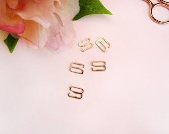 """5 x Rose Gold 10 mm (3/8"""") G-Hooks"""