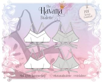 H a v a n a - Soft Bralette Sewing Pattern - PDF Instant Download - Evie la Luve