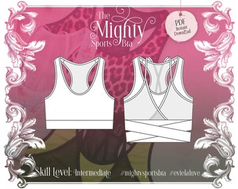 Mighty Sports Bra Sewing Pattern PDF Instant Download - Evie la Luve
