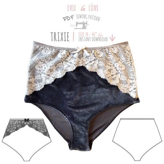 DIGITAL pdf de patrón de costura de lencería Trixie alta | Etsy