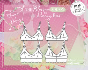 DIGITAL Blossom ADD ON for The Darcey Bra - pdf Instant Download - Evie la Lùve