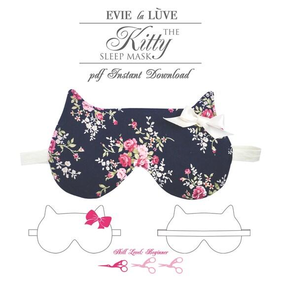 DIGITAL Sewing Pattern Kitty Sleep Mask PDF instant | Etsy