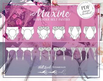 DIGITAL Lingerie Sewing Pattern - The Maxine Panties - Evie la luve